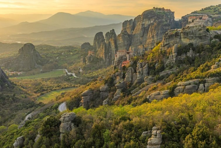 Meteora Monastery and Greek Nature