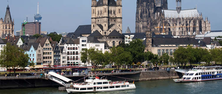 River and churches in Cologne