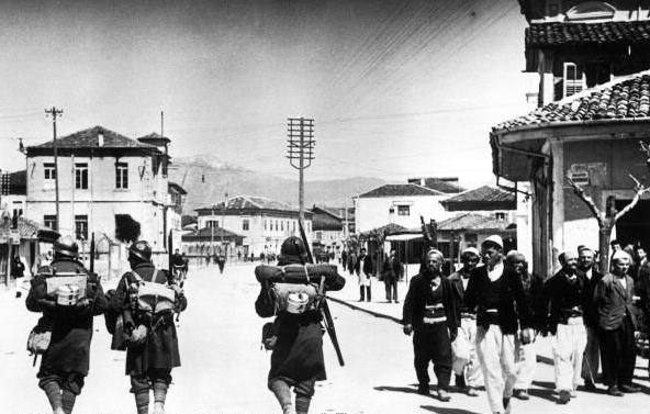Italian soldiers in Albania