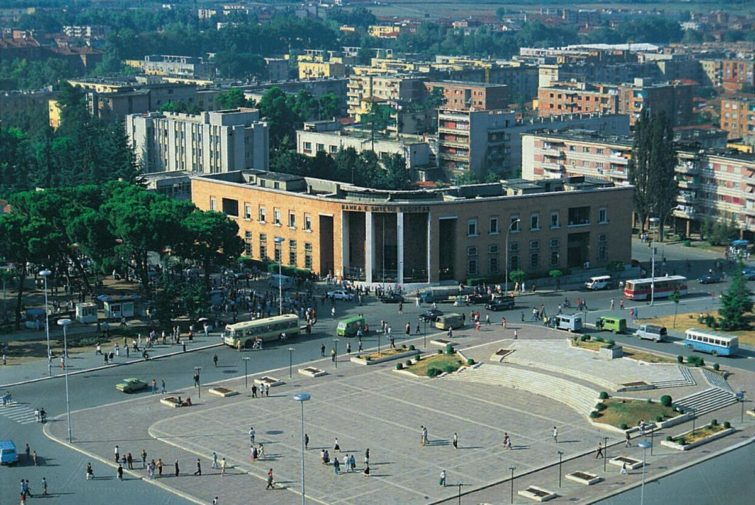 From Skanderbeg Square in Albania's capital Tirana.