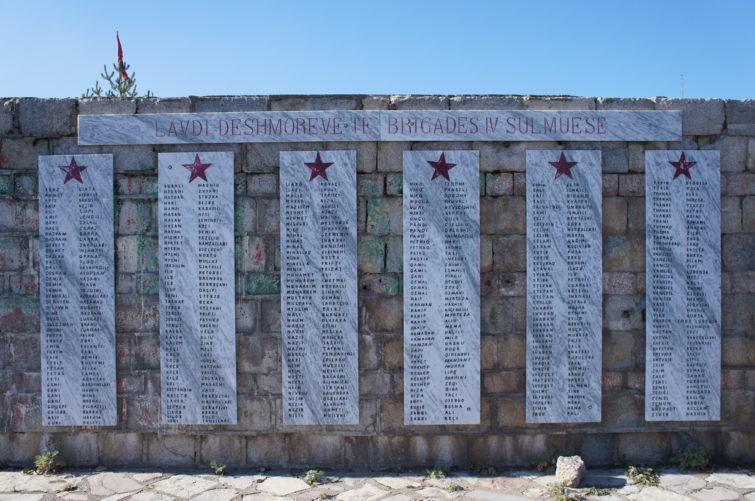 Memorial of fallen World War II partisans. Voskopoje.