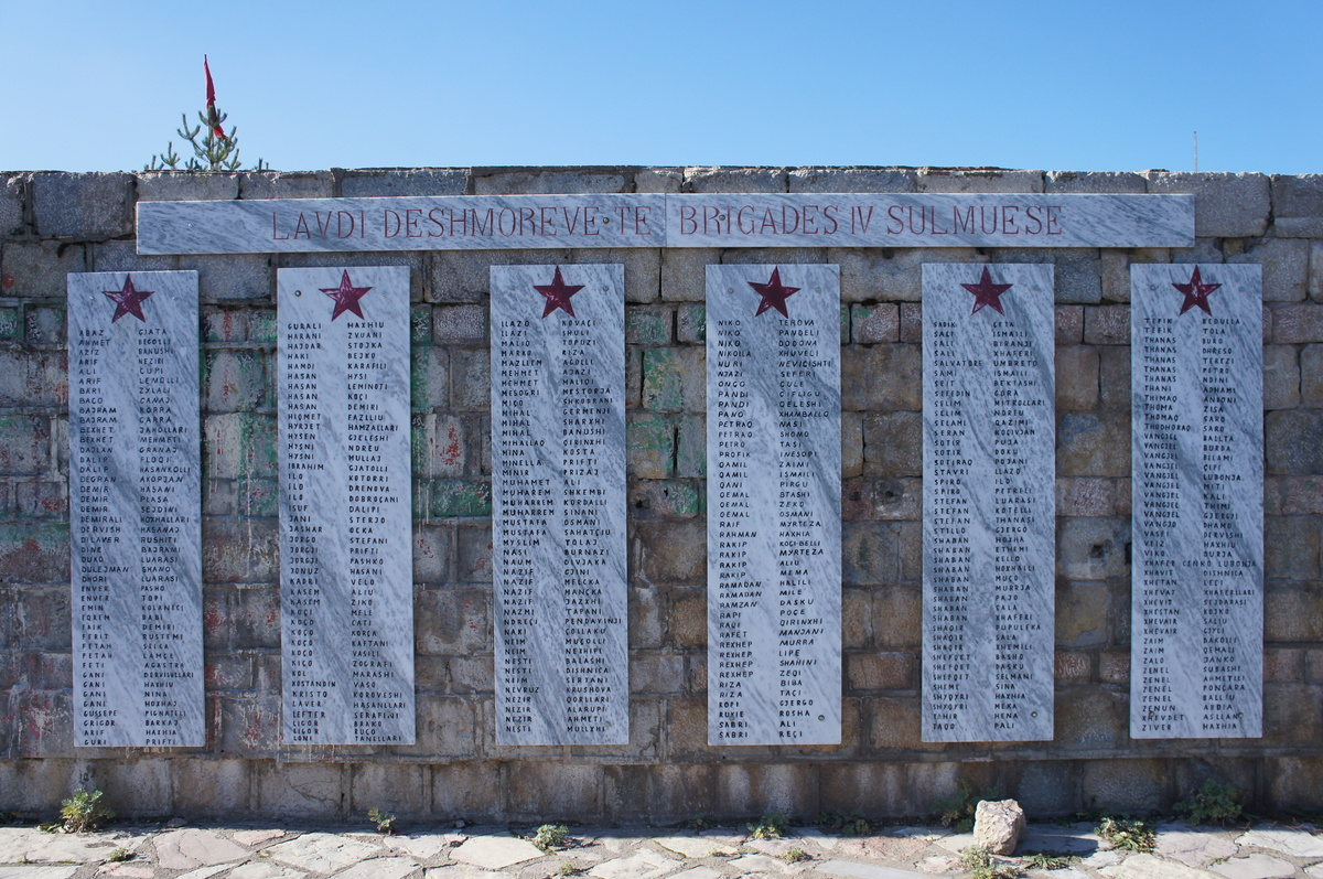 Memorial of fallen World War II partisans. Voskopoje.