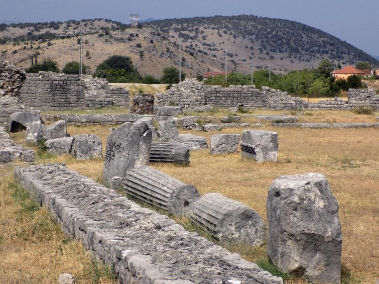 The ruins of the Roman city of Doclea (Duklja) outside of Podgorica in Montenegro.