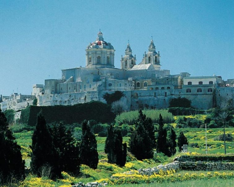 The fortified hilltop of Mdina