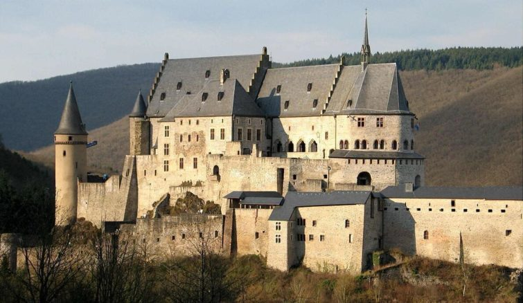 Vianden Castle and Fortress date from the 1000s