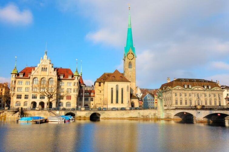 Fraumünster church with Chagall windows