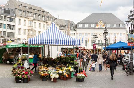 The marketplace in Bonn