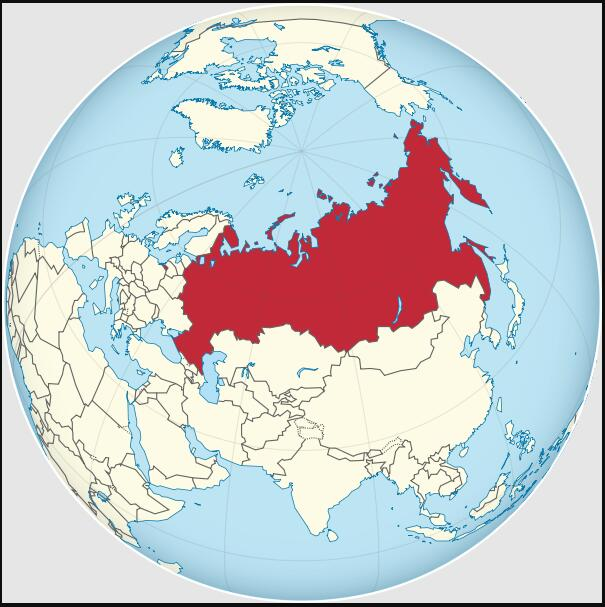 Location of the Russian Federation
