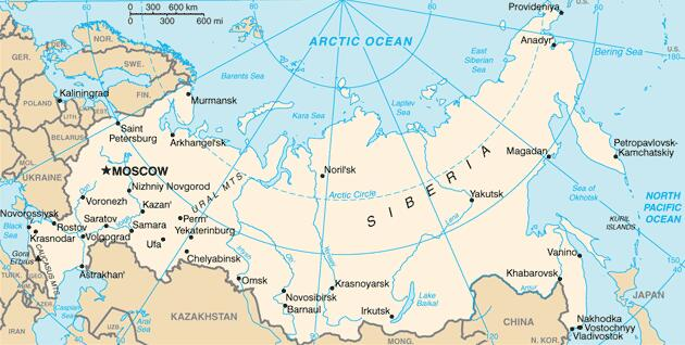 Overview map Russia